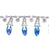 Rhinestone Trim Navette 5Yd Spool 15mm Sapphire Aurora Borealis/silver